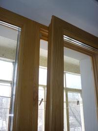 Деревянные евроокна со стеклопакетом, вариант 4