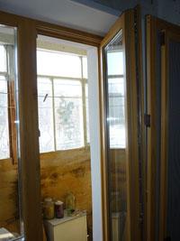 Деревянные евроокна со стеклопакетом, вариант 2