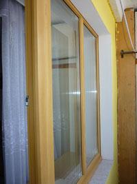 Деревянные евроокна со стеклопакетом, вариант 1